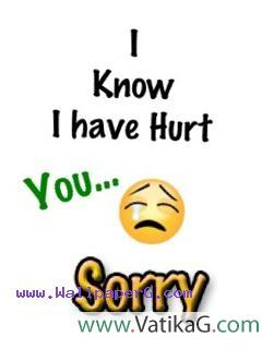 I want to say sorry