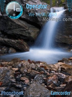 3d water s60v3 theme