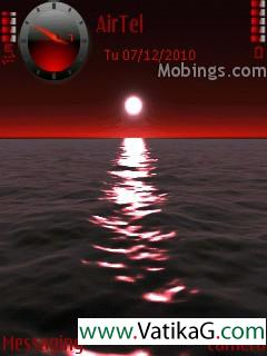Red sky s60v3 theme