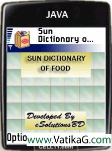 Sun dictionary of food