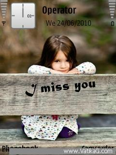 Cute girl miss you