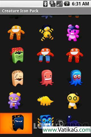 Creature android icon pac