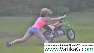 Funny stunt fail clip of baby
